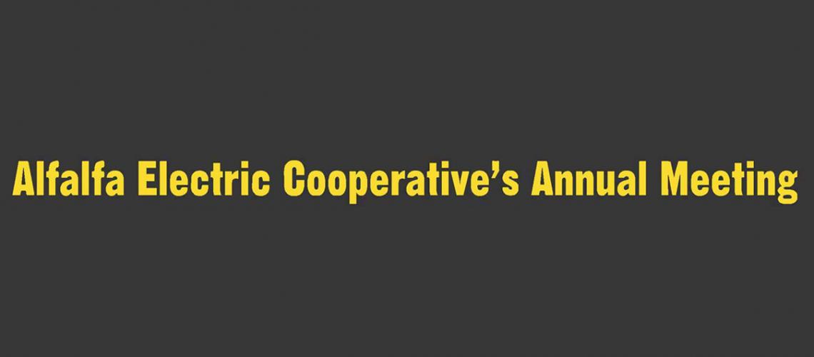 alfalfa electric cooperative's annual meeting