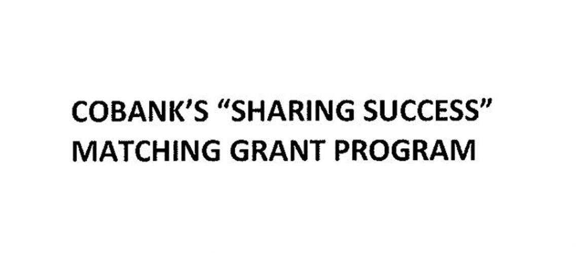 Cobank's Sharing success matching grant program